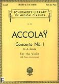 Ok�adka: Accolay Jean Batiste, Koncert skrzypcowy nr 1, a-moll