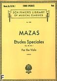 Okładka: Mazas Jacques-Féréol, Etudes Speciales, op. 36 z. 1