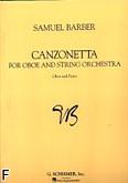 Okładka: Barber Samuel, Canzonetta na obój i fortepian