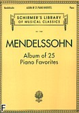 Okładka: Mendelssohn-Bartholdy Feliks, Album of 25 Piano Favourites