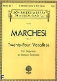 Okładka: Marchesi Mathilde, Twenty-Four Vocalises