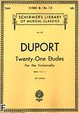 Okładka: Duport Jean-Pierre, 21 etiud z. 1