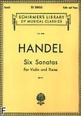 Okładka: Händel George Friedrich, 6 sonat na skrzypce i fortepian