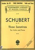Okładka: Schubert Franz, 3 Sonatiny, op. 137