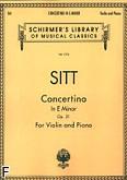 Okładka: Sitt Hans, Concertino e-moll, op. 31