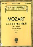 Okładka: Mozart Wolfgang Amadeusz, Koncert fortepianowy nr 11, F-dur, K.413