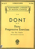 Ok�adka: Dont Jacob, Thirty Progressive Exercises For the Two Violins Op. 38