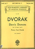 Okładka: Dvořák Antonin, Tańce słowiańskie, op. 72 - z. 1 i 2