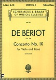 Ok�adka: Beriot Charles-Auguste de, Koncert skrzypcowy nr 9, a-moll, op. 104