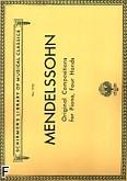 Okładka: Mendelssohn-Bartholdy Feliks, Original Compositions For Piano, 4 Hands