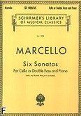 Okładka: Marcello Benedetto, Six Sonatas for Cello or Double Bass and Piano