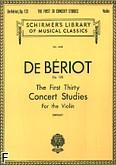 Okładka: Beriot Charles-Auguste de, 30 pierwszych etiud koncertowych, op. 123