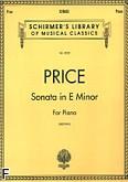 Okładka: Price Florence, Sonata e-moll