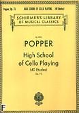 Okładka: Popper David, Szkoła wyższa gry wiolonczelowej (40 etiud), op. 73