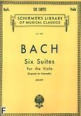 Ok�adka: Bach Johann Sebastian, 6 suit wiolonczelowych, transkrypcja na alt�wk�