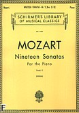 Okładka: Mozart Wolfgang Amadeusz, Nineteen Sonatas For the Piano - book 2 (11-19)