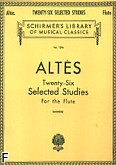 Okładka: Altes Henri, 26 wybranych etiud (flet)