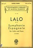 Okładka: Lalo Édouard Victor Antoine, Symphonie Espagnole, Op. 21