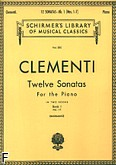 Okładka: Clementi Muzio, 12 Sonat z. 1 (nry 1-7)