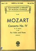 Ok�adka: Mozart Wolfgang Amadeusz, Concerto No. 4 in D major K.218 For Violin and Piano
