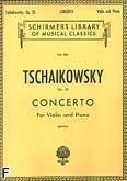 Okładka: Czajkowski Piotr, Concerto D-Dur, Op. 35 for Violin and Piano
