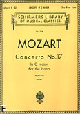 Okładka: Mozart Wolfgang Amadeusz, Koncert fortepianowy nr 17, G-dur, K.453