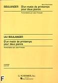 Okładka: Boulanger Lili, D'un Matin Du Printemps