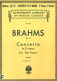 Okładka: Brahms Johannes, Concerto In D minor Op. 15, For The Piano