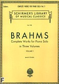 Okładka: Brahms Johannes, Complete Works For Piano Solo - Volume 1