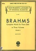 Okładka: Brahms Johannes, Komplet dzieł na fortepian w trzech częściach, z. 2