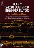 Okładka: Moyse Louis, Forty Short Duets For Beginner Flutists
