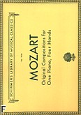 Okładka: Mozart Wolfgang Amadeusz, Original Compositions For One Piano, Four Hands