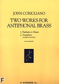 Okładka: Corigliano John, Two Works For Antiphonal Brass (partytura+głosy)