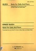 Okładka: Bloch Ernst, Suita na wiolonczelę i fortepian