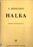 Ok�adka: Moniuszko Stanis�aw, Halka - opera w 4 aktach (wyci�g fortepianowy)