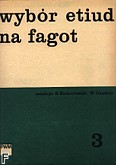 Okładka: Komorowski I., Wybór etiud na fagot z. 3