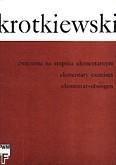 Ok�adka: Krotkiewski Witold, �wiczenia na stopniu elementarnym na skrzypce