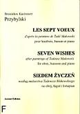 Okładka: Przybylski Bronisław Kazimierz, Siedem życzeń na obój, fagot i fortepian (partytura + głosy)