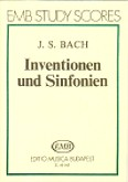 Okładka: Bach Johan Sebastian, Invention und Sinfonien