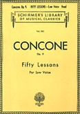 Okładka: Concone Joseph, Concone - Fifty Lessons for Low Voice