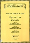 Okładka: Bach Johann Sebastian, Concertos For The Violin. Concert in E major (score + part)