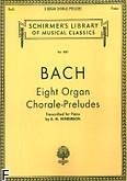 Ok�adka: Bach Johann Sebastian, 8 organowych chora��w-preludi�w