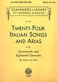 Okładka: , 24 włoskie pieśni i arie na głos niski i średni