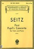 Okładka: Seitz Friedrich, Koncert uczniowski D-dur na skrzypce i fortepian