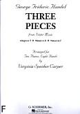 Ok�adka: H�ndel George Friedrich, 3 cz�ci z muzyk� na wodzie (na 2 fortepiany i 8 r�k)