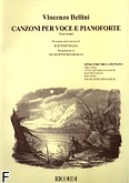 Okładka: Bellini Vincenzo, Canzoni per Voce e Pianoforte