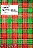Ok�adka: Przybylski Bronis�aw Kazimierz, Quattro studi per orchestra (partytura + g�osy)