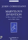 Ok�adka: Corigliano John, Marvelous Invention for Mezzo-Soprano and Piano
