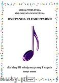 Okładka: Ćwiklińska Maria, Rogozińska Małgorzata, Dyktanda elementarne dla klasy III szkoły muzycznej I stopnia - zeszyt ucznia