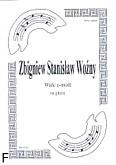 Okładka: Woźny Zbigniew Stanisław, Walc e-moll na gitarę